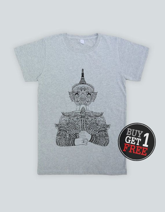 Buy 1 Get 1 Free //Giant Thai Style   Unisex T Shirt by Stuckplugs