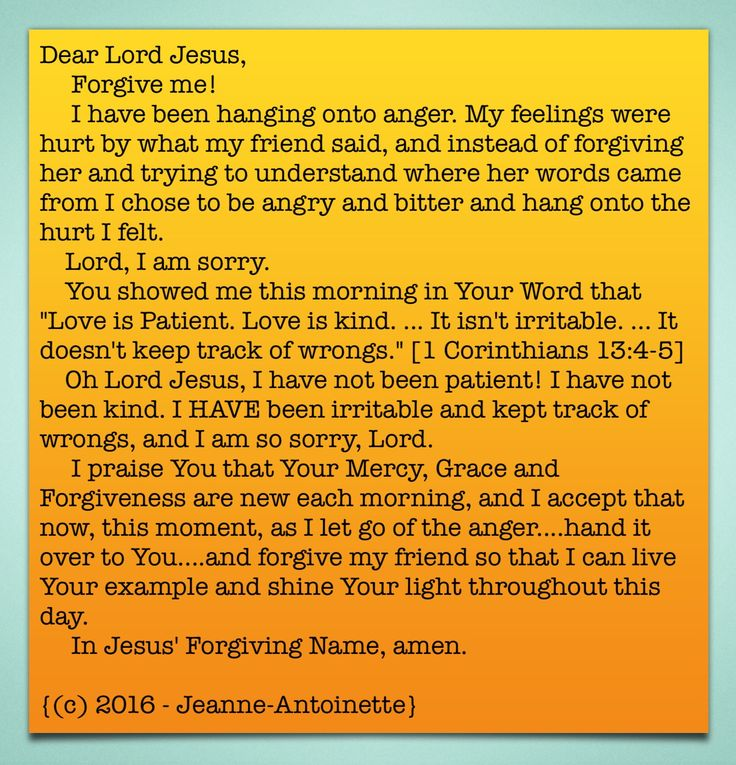 #Prayer #Forgiveness Prayer by Jeanne-Antoinette.