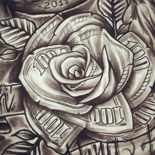 #Details #rose #bucks #art #artwork #tattoo #tattooforclient #tattoodesignformyclient #trad #tradtattoo #traditional #neotrad #chicano #dollar #spb #moscow #спб #edwardmiller