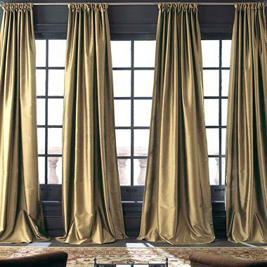 Silk Curtains Curtain Panels And Velvet On Pinterest