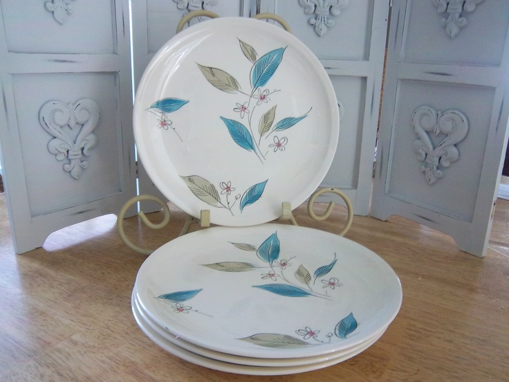 Retro MidCentury Salem Biscayne Dinner Plates 1950u0027s. $45.00 via Etsy. & 170 best Salem China/Royal China/Ohio/MadeInUSA images on Pinterest ...