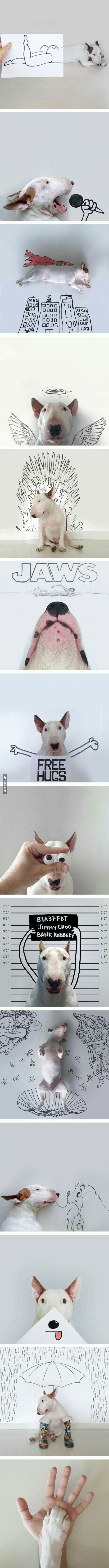 A dog owner created an awesome illustration with his terrier