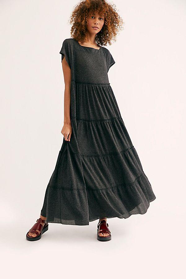 Saltwater Maxi Dress Tiered Dress Casual Maxi Dress Shapeless Dress