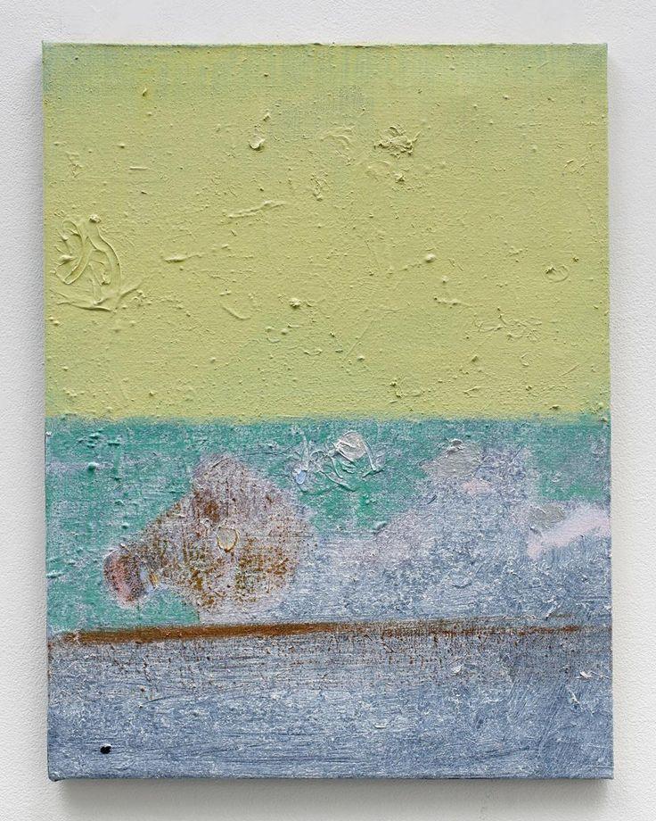 Merlin James - acrylic on canvas