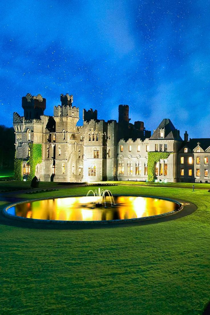 Ashford Castle is a medieval castle that has been expanded over the centuries and turned into a five star luxury hotel near Cong on the Mayo/Galway border in Republic of Ireland, on the shore of Lough Corrib.