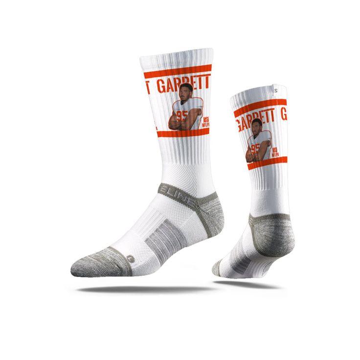 NFLPA - Myles Garrett, White - Strideline Crew Socks