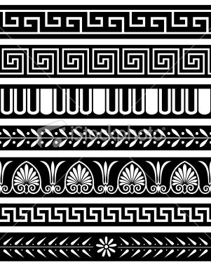 Ancient Greece Patterns Royalty Free Stock Vector Art Illustration