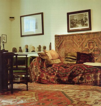 Sigmund Freud Museum, London NW3, with probably the most famous couch in the world