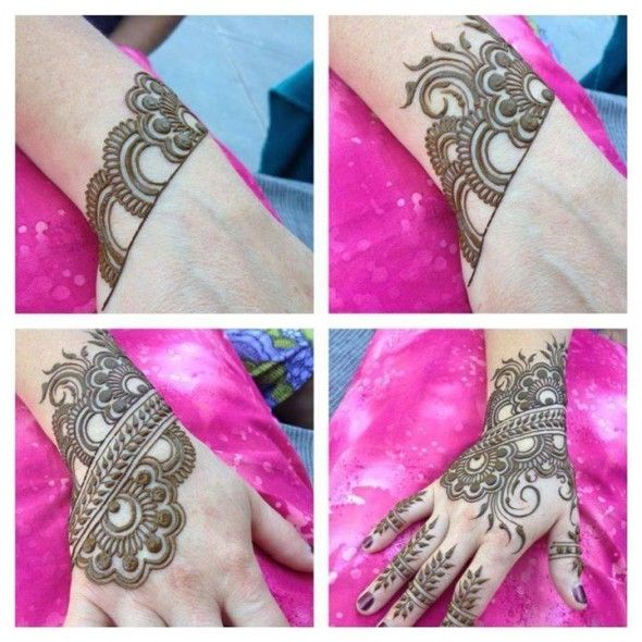 Simple and Very Easy Mehendi Designs Fresh Arrival of 2014 Please Pin It