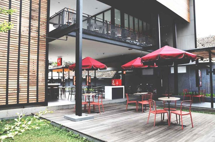Richeese Factory Image 5  Project : Richeese Factory Location : Indonesia Description : Richeese Factory chain restaurant is our national project in Indonesia, until now we already designed more than 50 outlets all around Indonesia  #nationalproject #architect #bandung #jakarta #architectindonesia #archdaily #restaurants