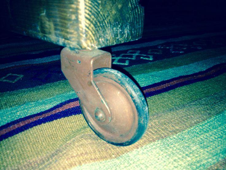 Vintage industrial wheels