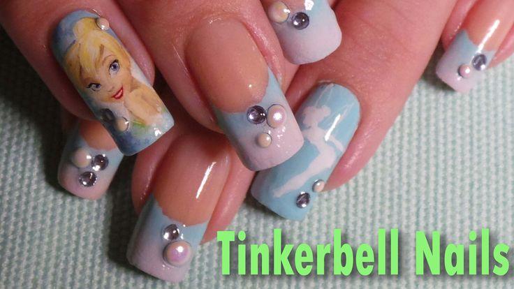 Disney Inspired; Tinkerbell Nail Art Tutorial