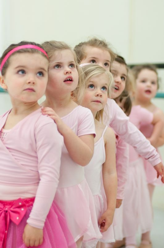 little dancers lining up like we do before and after class!