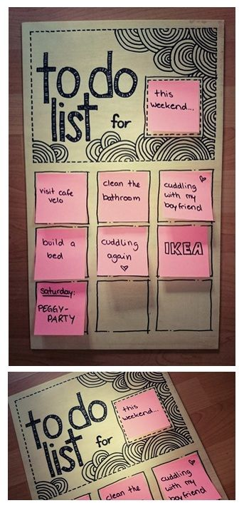 Clever idea for a to do list