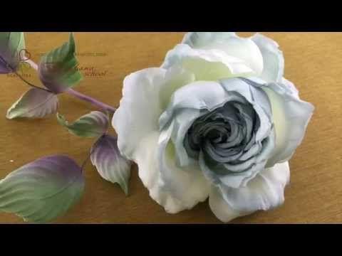 Мастер классы Японской школы шелковой флористики Tanjobana Розы из шелка по мотивам Somebana - YouTube