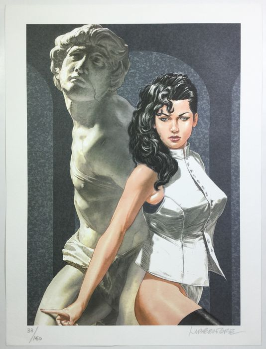 "Liberatore, Tanino - lithograph ""Pin Up' - W.B."