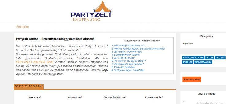 ➀ Partyzelt kaufen ✓ Festzelte ✓ Kaufberatung ✓ Zelte ab 30€ ✓ Testsieger aller Kategorien im direkten Vergleich ✓ Hochzeitszelte ✓ ....
