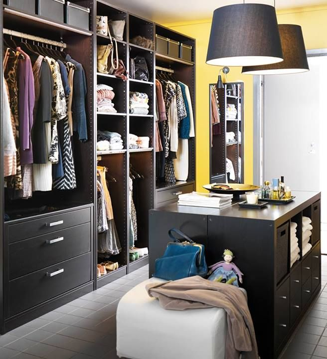 Walk In Wardrobes The Perfect Clothes Solution: Ikea Inloopkast Met Eiland.