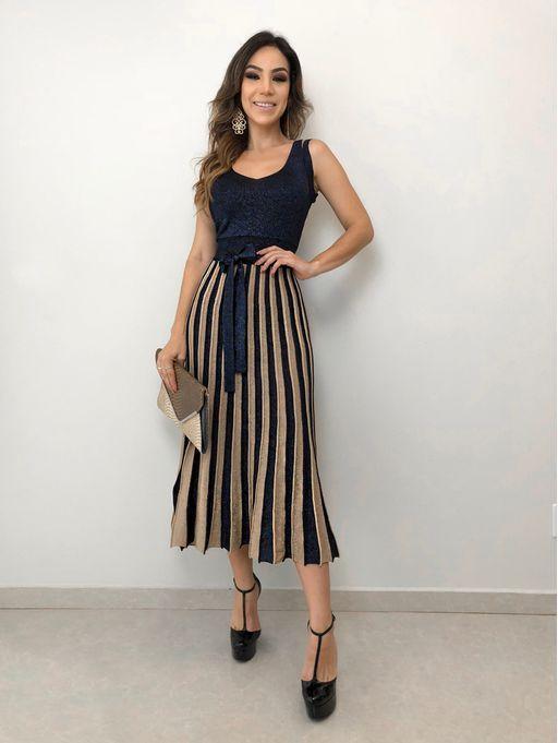 0c15b9ce0 Vestido Lurex Iara Faldas Elegantes