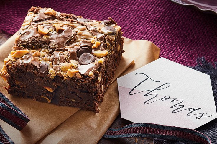 Adding a swirl of peanut butter takes this classic chocolaty treat to a whole new level of delicious. #peanutbutter #brownies #CLGetCooking
