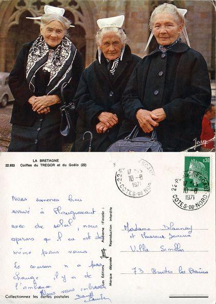Coiffes du Trégor et du Goëlo - 1971 (from http://mercipourlacarte.com/picture?/116> Merci pour la carte !)Les Éditions Jean, Audierne