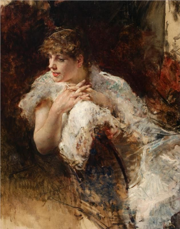 Giuseppe De Nittis (Italian 1846–1884) [Impressionism, Salon] A Lady from Naples.