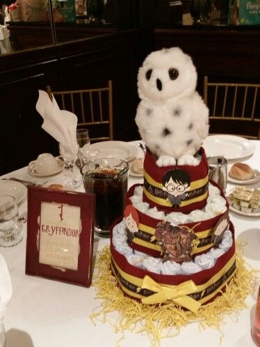 Diaper Cake Centerpiece For The Guest Of Honors Table