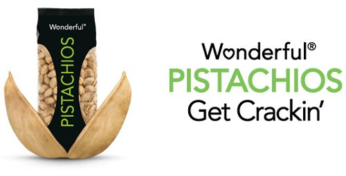 "A famous American pistachio brand ""Wonderful Pistachios"" launched a new marketing campaign on twitter. Description from irantraders.net. I searched for this on bing.com/images"