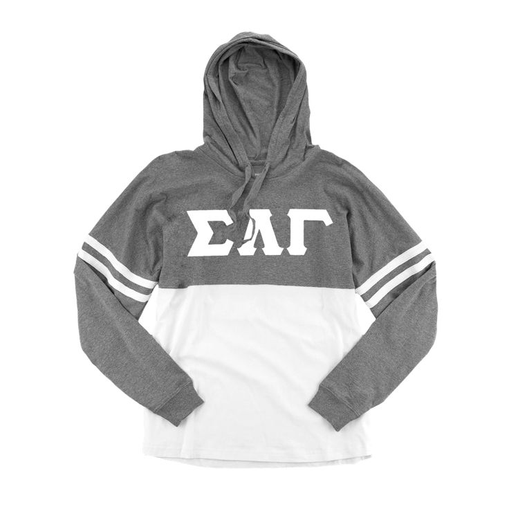 Sigma Lambda Gamma Hoodie Spirit Jersey: Long Sleeve with Greek Letters on Front The ultimate Sigma Lambda Gamma Spirit Jersey featuring Greek Letters on front. Our Long Sleeve Sigma Lambda Gamma hood
