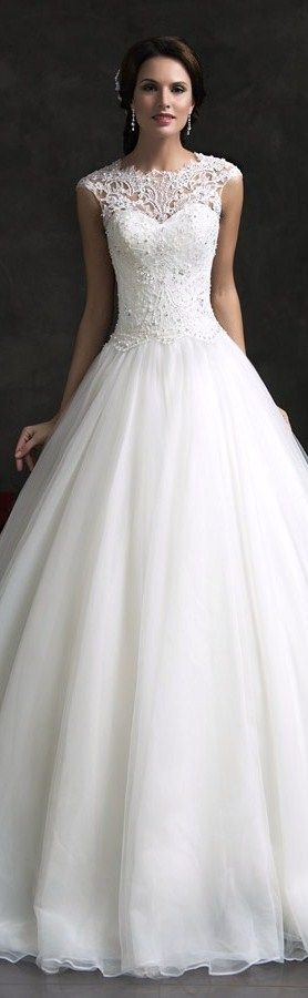 Fabulous Amelia Sposa bridal monica lace bodice cap sleeve ball gown wedding dress