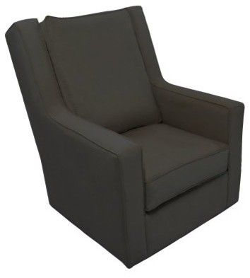 Channel Glider Charcoal Velvet   Modern   Rocking Chairs     By Hayneedle