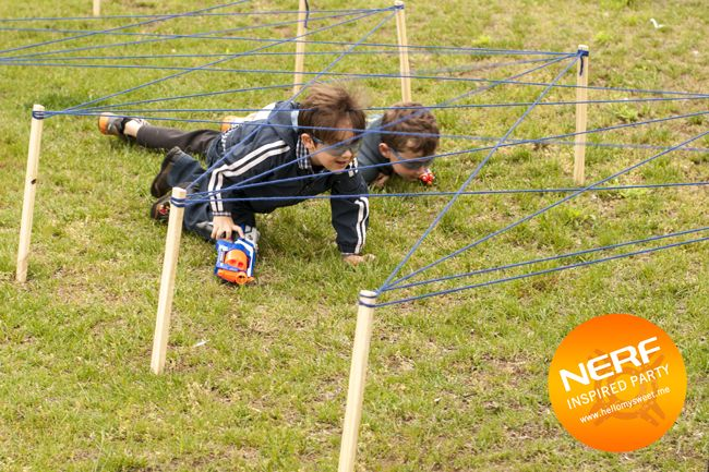 Nerf Party Games, Obstacle Course — Hello My Sweet