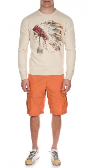Sweater and Shorts: Polo Denim & Supply  shoes: Golden Goose   #mensfashion #summer #trend #fashion