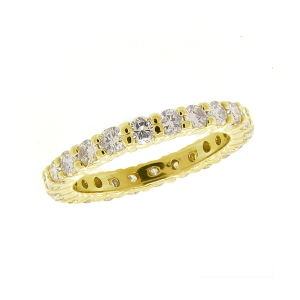 From Morris & David comes this stunning yellow gold eternity diamond ring!: Yellow Gold, Anniversaries Rings, Diamonds Rings, David Yellow, Eternity Rings, Morris Amp, White Gold, Gold Eternity, Eternity Diamonds