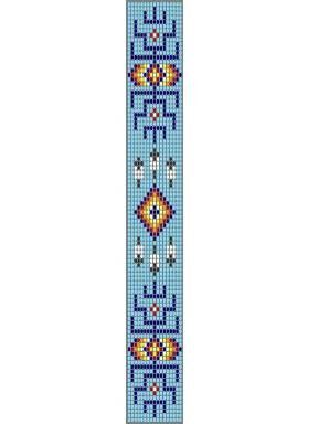 Loom Beadwork Pattern Native American Indian PTL-2 via Etsy