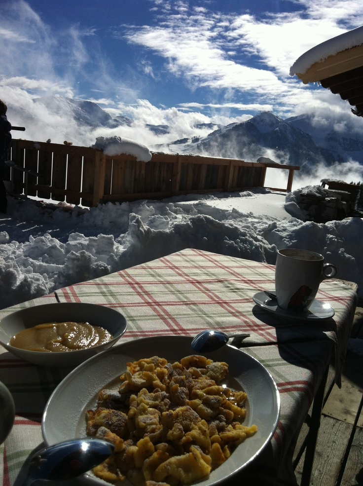 Kaiserschmarren heaven :) We 'climbed' up a mountain during our last trip to Austria. The view (and the Kaiserschmarren) were amazing!