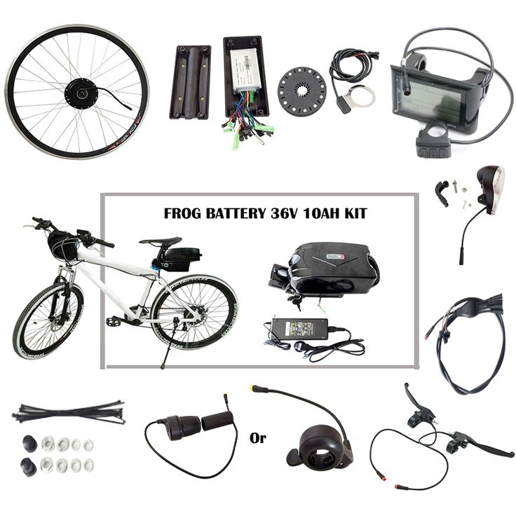 129.19$  Buy here - http://alixoo.worldwells.pw/go.php?t=32526571899 -  Ebike Conversion Kit with 36V 10AH Lithium Battery E bike Wheel Hub Motors 900LCD Display Suitable for Folding Electric Bike  129.19$
