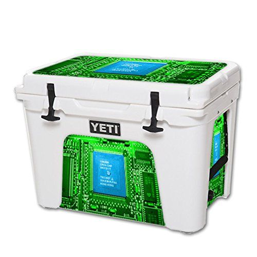 MightySkins Protective Vinyl Skin Decal for YETI Tundra 50 qt Cooler wrap cover sticker skins Circuit Board ** You can find out more details at the link of the image.(This is an Amazon affiliate link and I receive a commission for the sales)