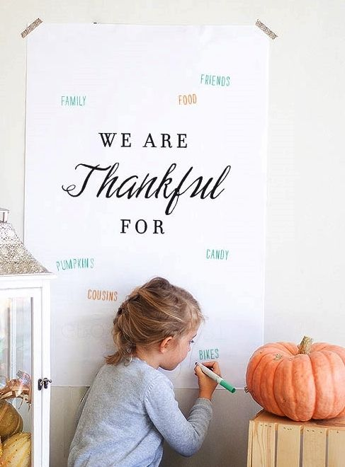 So sweet and simple: download this free printable for Thanksgiving and all your…