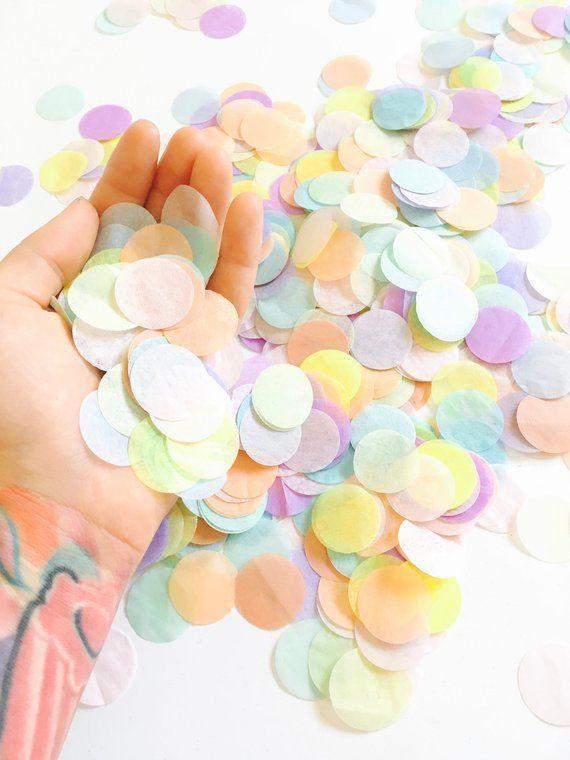 025125306b1ba Pastel Rainbow Confetti - Unicorn Party Confetti Toss, Baby Shower ...