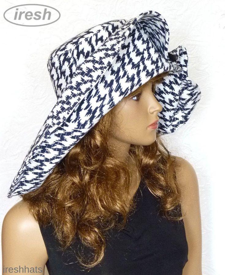 Hat and beach cover Up, Black hat, Wide-brimmed hat, Beach hat, Women's summer hat, Beach sundress, Black beach cover Up, Women's beachwear – Wide brimmed hats