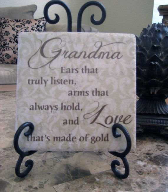 19 best grandma baby shower images on pinterest grandma quotes grandma gift grandmother personalized verse tile art with wrought iron easel can add name negle Image collections