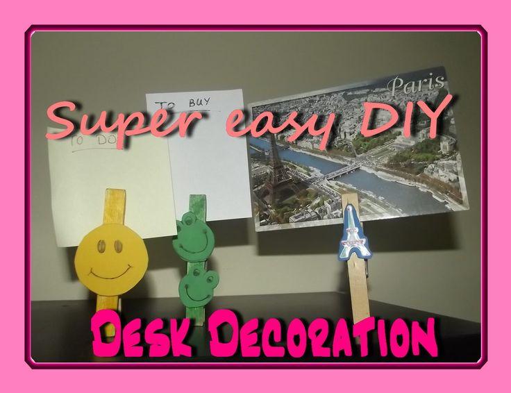 DIY - Desk decoration / Διακόσμηση γραφείου
