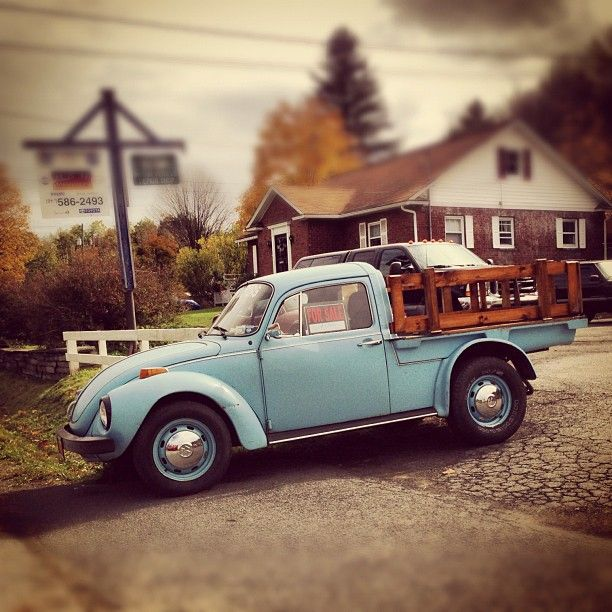 """I have never seen this before, but I like it! Beetle truck conversion…"