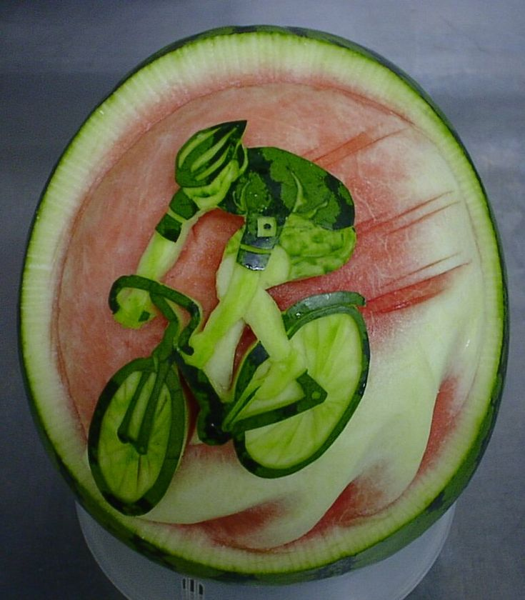 Best Carved Fruits Images On Pinterest Food Crafts And Food Art - Incredible sculptures carved watermelon