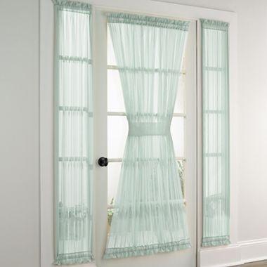 Lisette Sheer Door And Sidelight Panel Jcpenney Around The House Pinterest Window