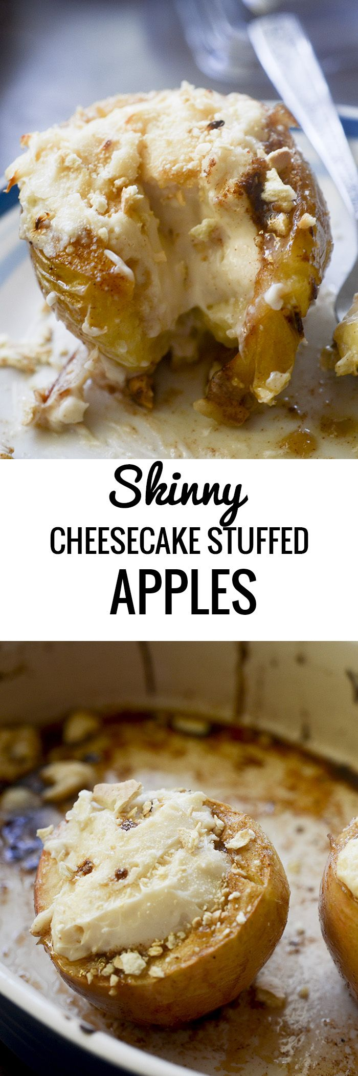 Skinny Cheesecake Stuffed Apples - Recipe Diaries