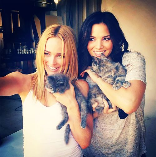 Caity Lotz and Katrina Law
