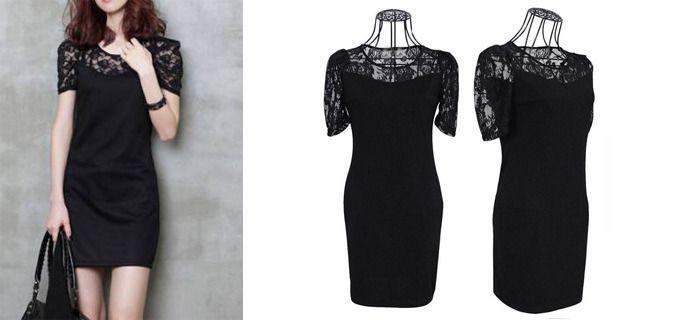 18€ για ένα νεανικό μαύρο φόρεμα, σε μοντέρνα γραμμή, με δαντέλα στο μπούστο, για εντυπωσιακές εμφανίσεις και με ΔΩΡΕΑΝ πανελλαδική αποστολή, από το NoPants Elinor! Αρχική αξία 36€