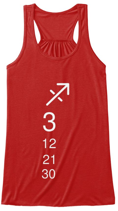 3 12 21 30 Red T-Shirt Front